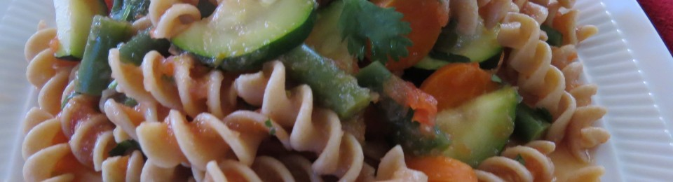Vegetable Pasta with a Mexican Twist
